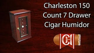 Charleston 150 Count 7 Drawer Cigar Humidor