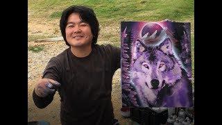 Sexy Wolf by spray art eden