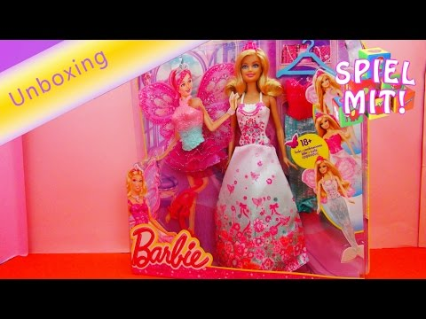Barbie Modern Fairytale Mattel BCP36 Dressing Up 3 in 1 Fantasie Unboxing + Demo