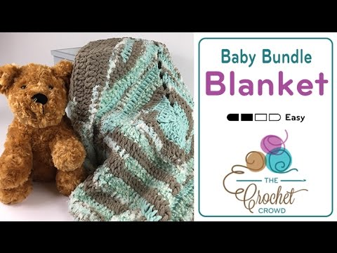 Crochet Patterns Using Bernat Home Bundle : How To Crochet A Baby Blanket: Bernat Baby Bundle - YouTube