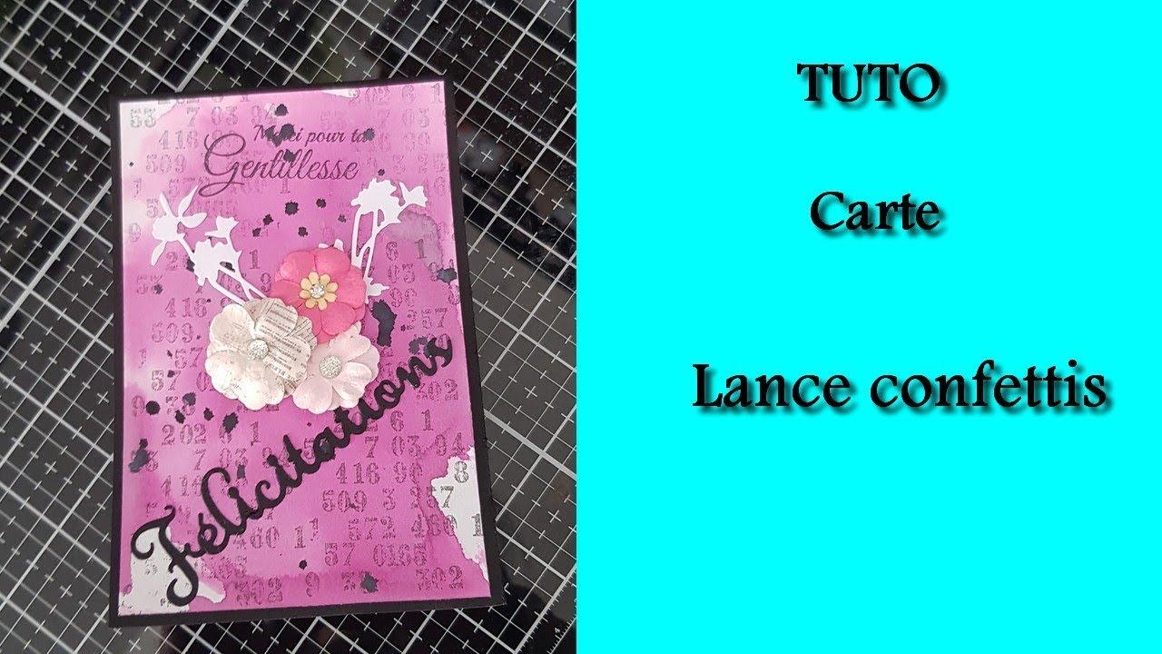 Tuto Carte Lance Confettis Youtube