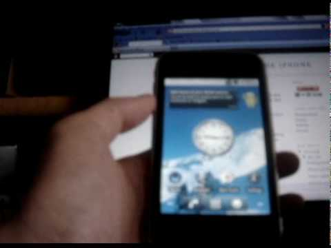 Android 2.2 Froyo running on the iPhone