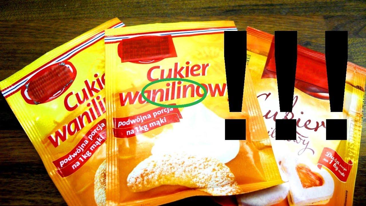 Cukier jest waNILINowy, nie waniliowy - Nauka. To lubię.