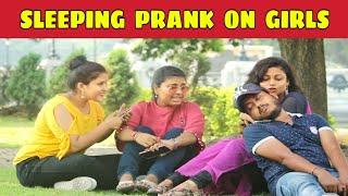 Sleeping prank on girls | মেয়েদের কোলে ঘুমিয়ে পড়া | Prank On Cute Girls | KKF - 2019