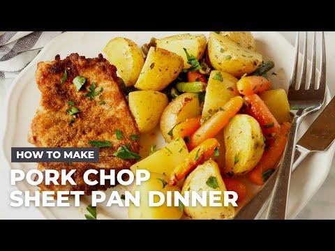 How To Make An Easy Pork Chop Sheet Pan Dinner