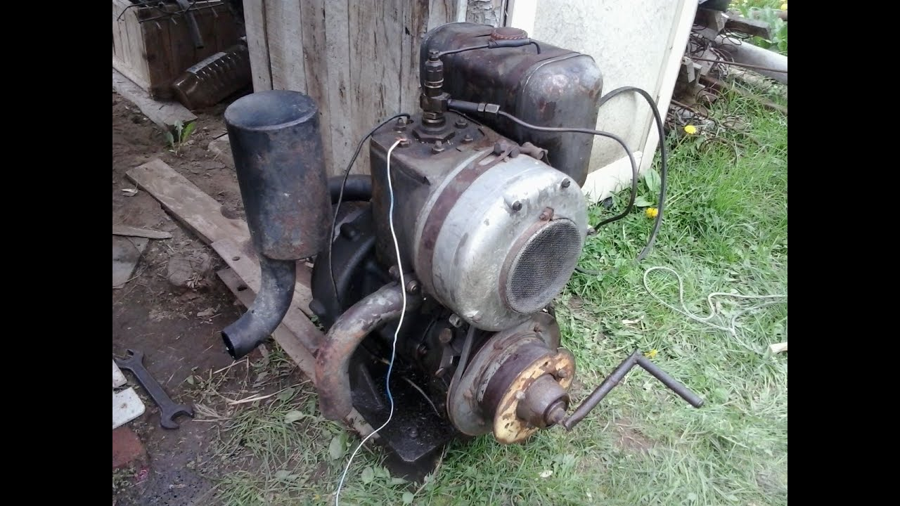 2 Stroke Single Cylinder Stationary Diesel Start Amp Run