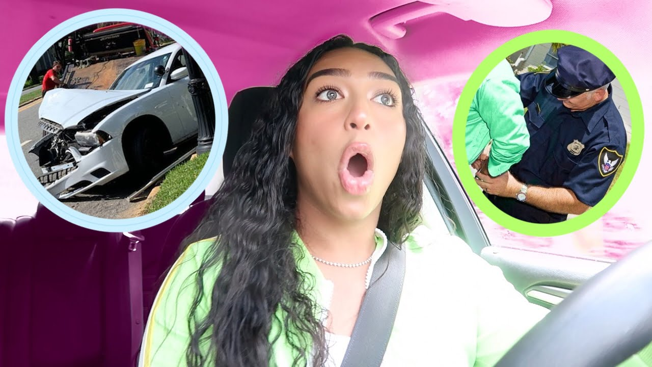 MY FIRST CAR ACCIDENT CAUGHT ON CAMERA | Daniel Almonte