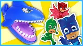Pj Masks Cups Beads Balls Toys, The shark ate the PJ masks, Learn Colors Pj Masks Wrong Heads