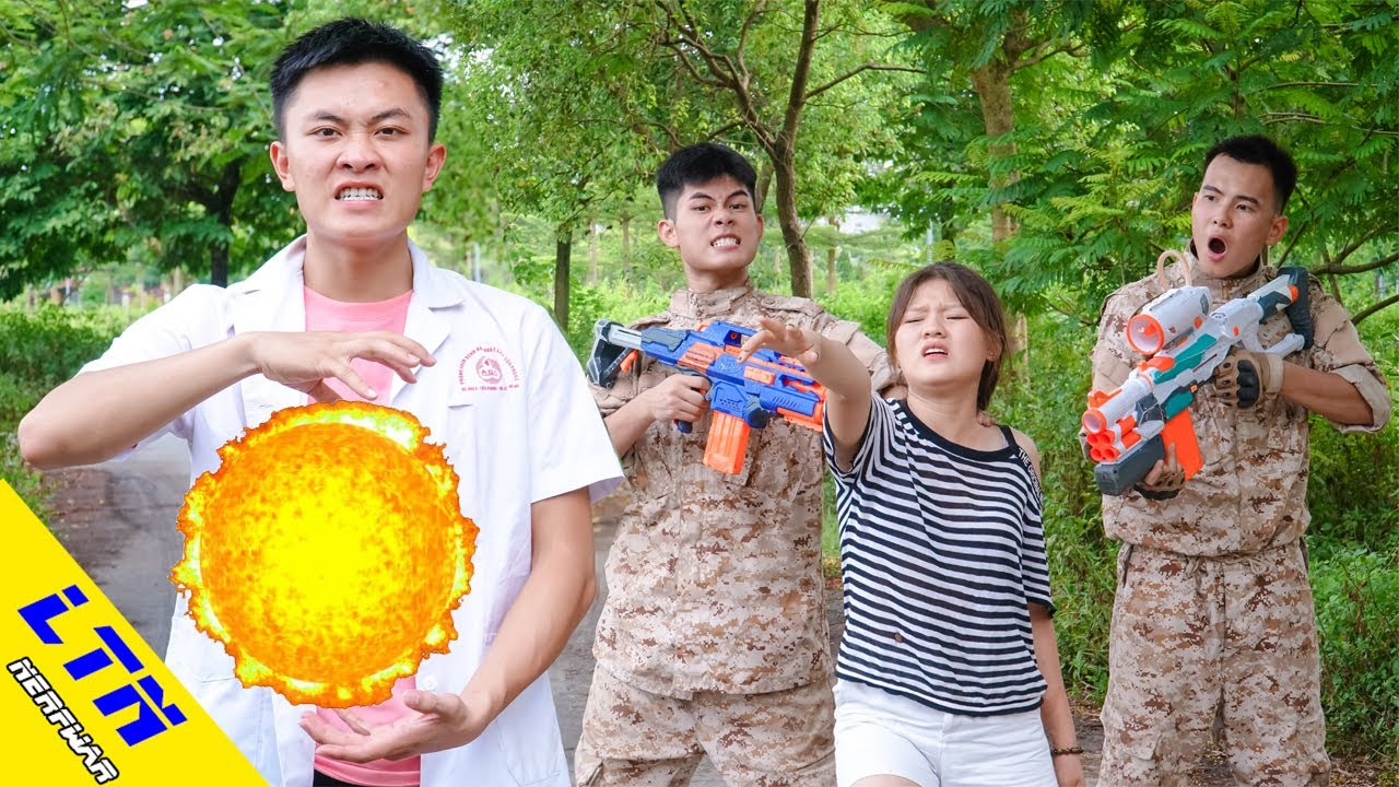 LTN Nerf War : Captain Seal SELLING ORANGE BIGBABOL & Delta Force T Nerf Guns Fight Secretary Team