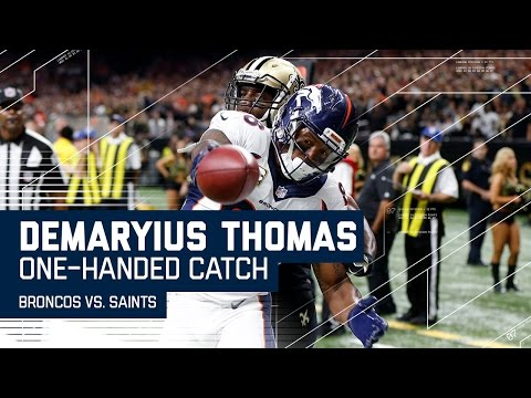 Demaryius Thomas Hauls in a Sick One-Handed Catch! | Broncos vs. Saints | NFL