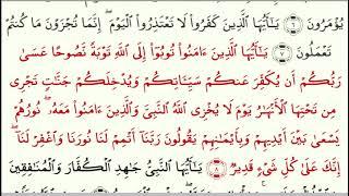 Сура 66 Ат-Тахрим (араб. سورة التحريم, Запрещение) - урок, таджвид, правильное чтение