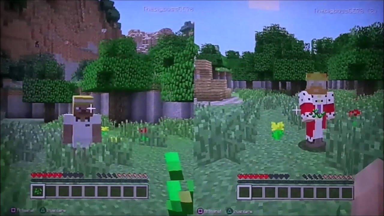Comment jouer en multijoueur en écran partagé sur Minecraft PS3/PS4/XBOX360/XBOXONE/WII U [tutoriel]