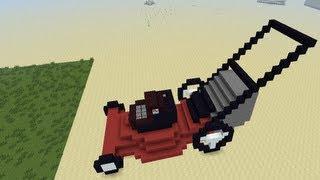 Redstone Lawn Mower in Minecraft