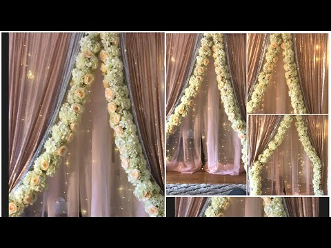 DIY-Two layer PVC pipe backdrop stand DIY-floral foam garland Diy:floral garland DIY-backdrop decor