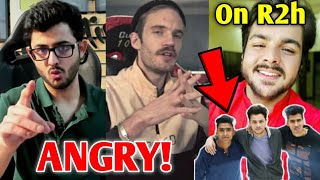 CarryMinati & PewDiePie ANGRY - Reaction | Ashish On Round2hell, PUBG Return Delayed, GauravZone |