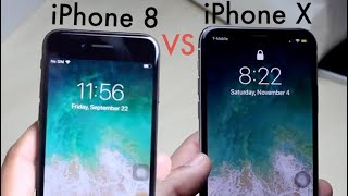 iPHONE 8 Vs iPHONE X In 2018! (Comparison) (Review)