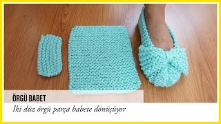 easiest knitted slippers ballet flats english subtitle