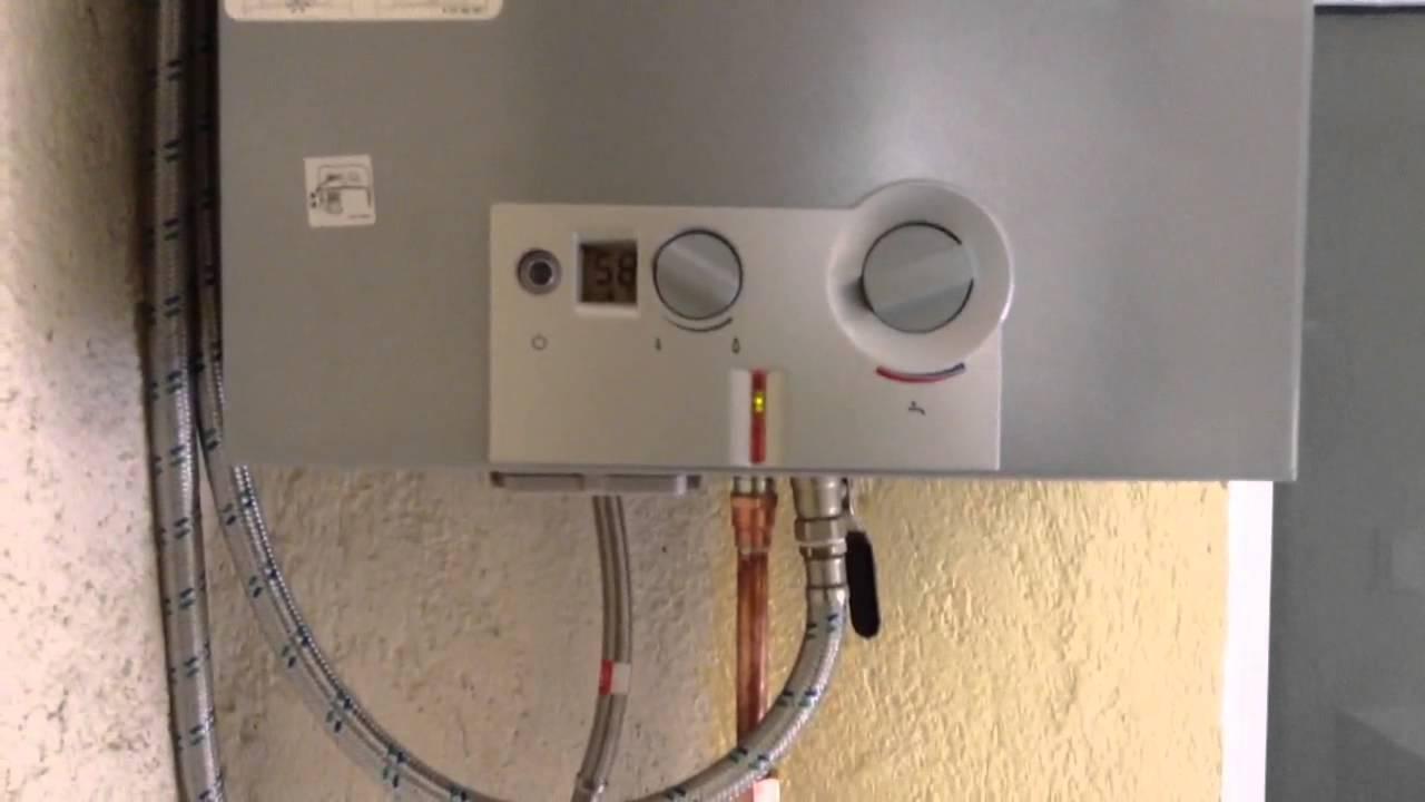 Calentador de gas natural Bosch  YouTube