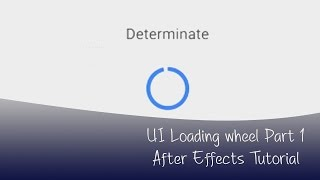 Creating the loading wheel refresh circle in after effects tutorial