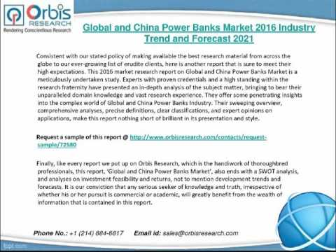 2016 Global and China Power Banks Market