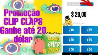 ?SAIU COMO GANHAR 1 DÓLAR TODO DIA SEM ENDICAR /PROMOÇÃO CLIP CLAPS 2020