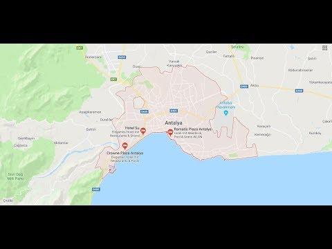 Turkische Riviera Karte Landschaft Und Landkarte Youtube