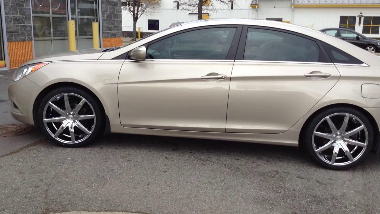 2017 Hyundai Sonata On 20 Cavallo Clv 8 Chrome Wheels And 245 35 Carbon Tires