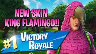 New King Flamingo Skin!! 12 Elims!! - Fortnite: Battle Royale Gameplay