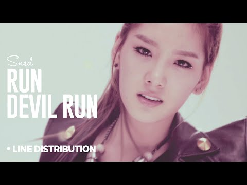 SNSD - Run Devil Run: Line Distribution