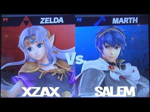 Salem (Marth) vs Xzax (Zelda) - Super Smash Bros. Ultimate