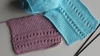 Вязание спицами: простой,ажурный узор