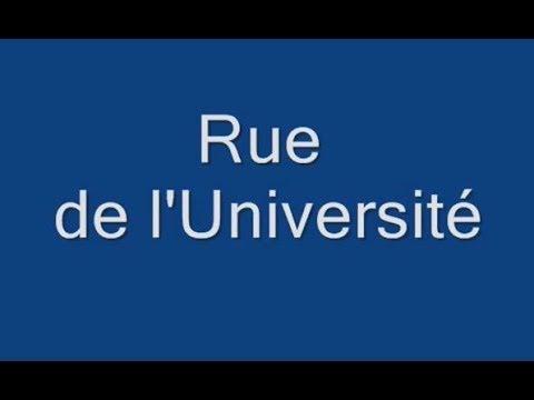 Rue de l'Universite Paris