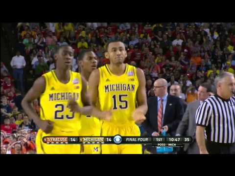Jon Horford And-1 Gives Michigan The Lead
