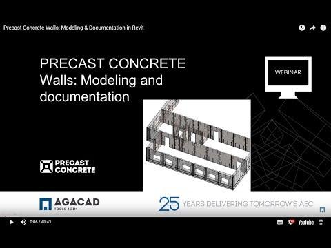 Precast Concrete – Walls: Modeling & Documentation in Revit