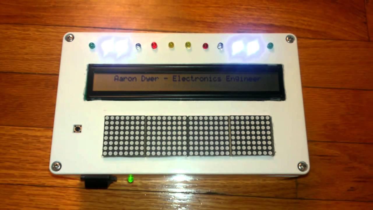40x2 LCD, arduino mega2560, max7219, matrix..WIP - YouTube