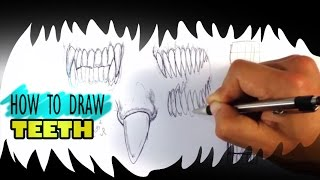 How to Draw a Monster - Teeth - Easy Things to Draw