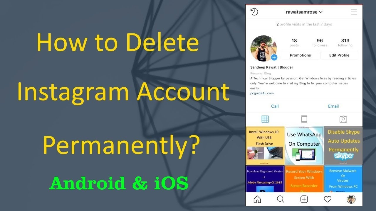 Delete Instagram Account Permanently - Android or iOS App (23)  PCGUIDE23U