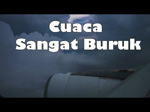 Ngeri, Landing saat Cuaca Sangat Buruk || Garuda Indonesia Airbus A330-200