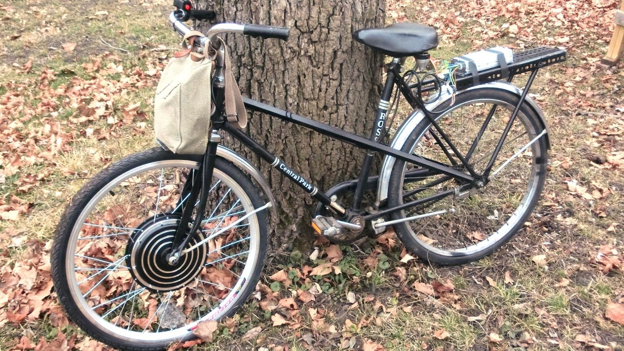 SteamPunk/TeslaPunk E-bike 04: 48v 1000w Hub Motor, Handlebar Grip Removal,  DIY