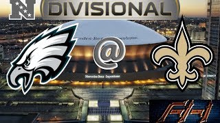 2018 - 2019 NFL Playoff Predictions - Philadelphia Eagles vs New Orleans Saints