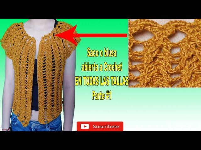 Como Tejer Blusa Abierta A Crochet Con Mangas 3 4 A Crochet Tejido A Ganchillo Parte 1 Youtube