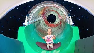 Milusik Lanusik playing on the Indoor Playground for Kids