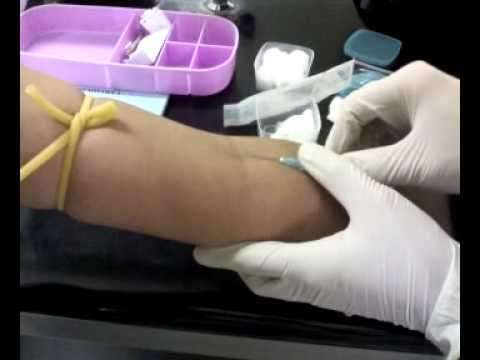 How to collect blood via venipuncture? - YouTube