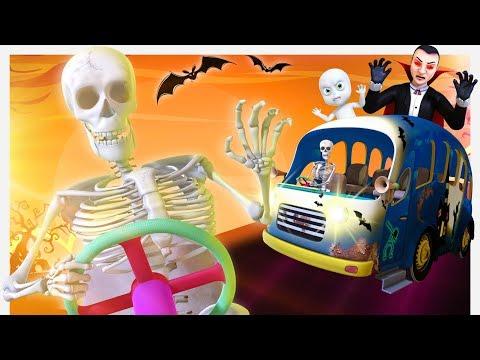 Wheels On The Ghost Bus - Halloween Version | Videogyan 3D Rhymes | Nursery Rhymes Kids Songs