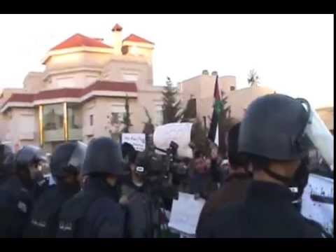 Protests for Palestine at US Embassy Amman Jordan