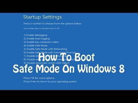 How To Boot Into Safe Mode On Windows 8 81
