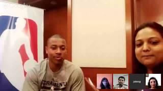 Google Hangout with Isaiah Thomas by NBA Powered by Jabong.com Thumbnail