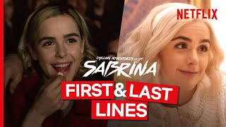 First and Last Lines Spoken By Chilling Adventures of Sabrina Characters