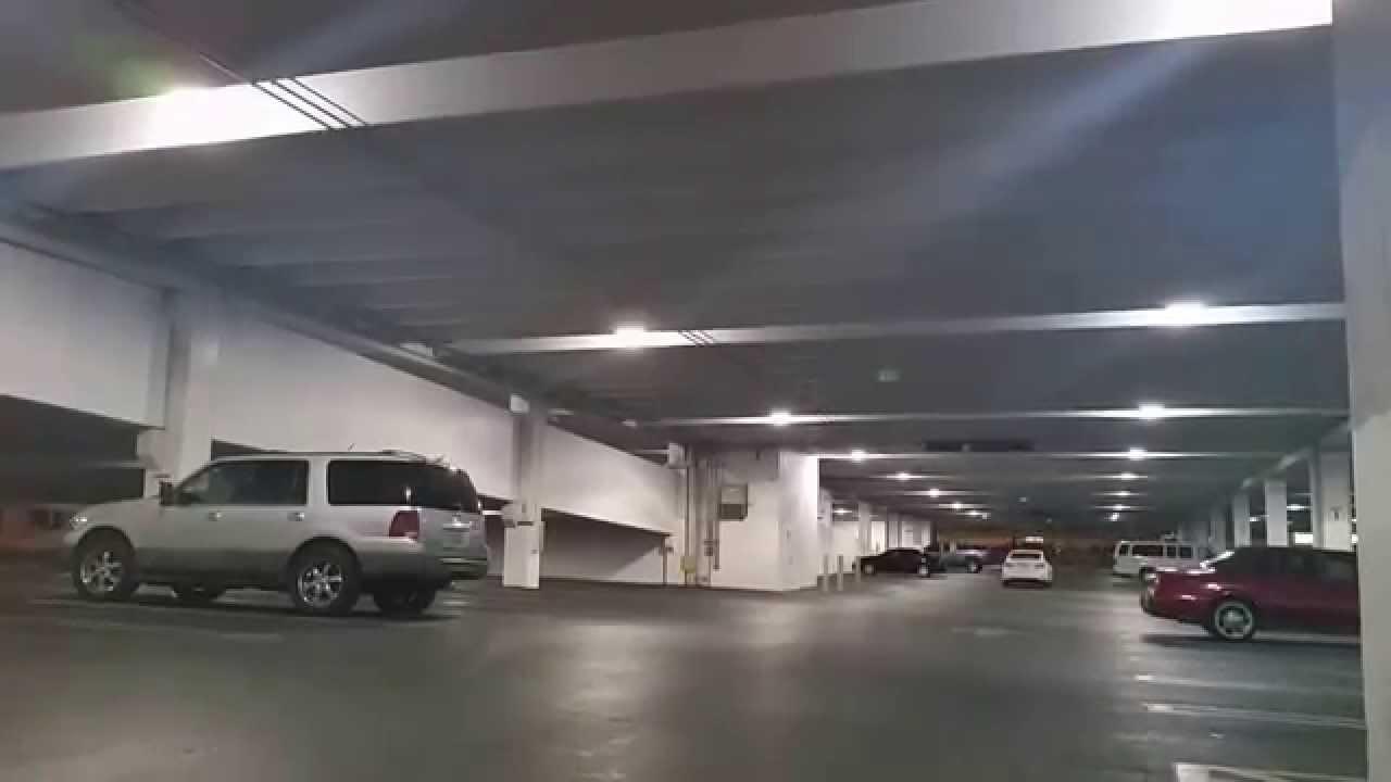 Garage Light Canopy : Led slim canopy light with motion sensor for parking