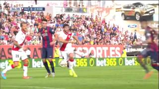Rayo Vallecano - Barcelona Highlights HD 04.10.2014